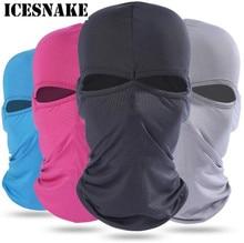 ICESNAKE Bike Face Mask Unisex Summer Breathable Balaclava Cap Ski Motorcycle Paintball Tactical Face Shield Hood цена