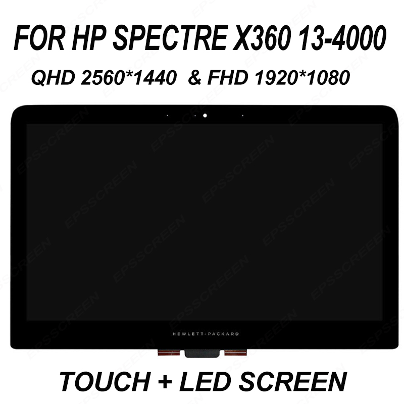 13.3'' LCD Assembly Touch Screen Digitizer Laptop For HP Spectre x360 13-4000 series 13-4xxxx 13-4115 1920*1080 OR 2560*1440 image