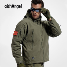 AichAngeI Armee Camouflage Mann Mantel Military Jacke Wasserdicht Windjacke Tactical Softshell Hoodie Jacke Winter Outwear