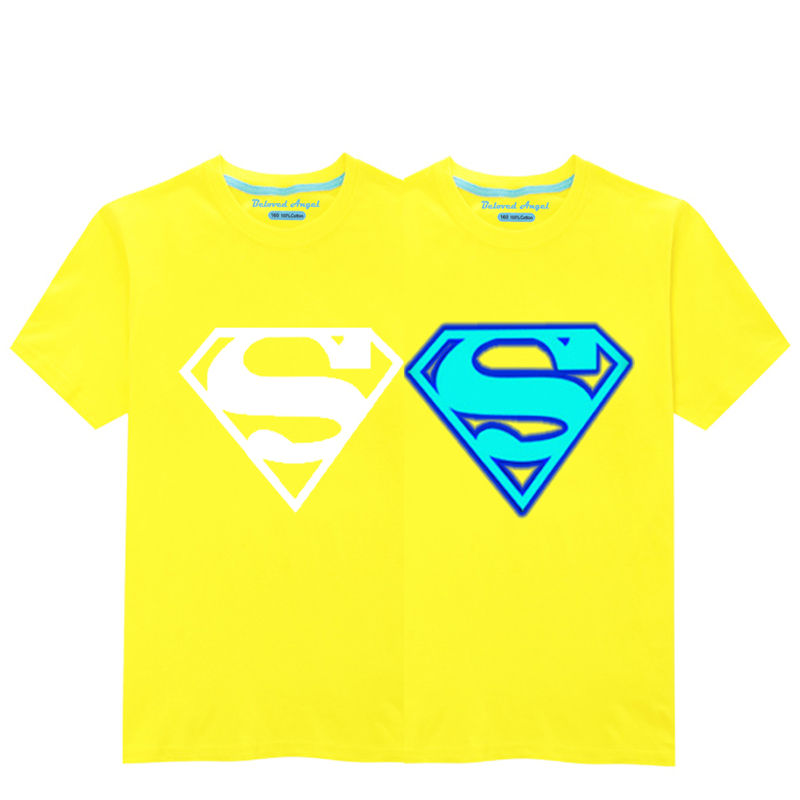 HTB1exR2RVzqK1RjSZFvq6AB7VXal - Luminous Short Sleeves T-Shirt For Boys T Shirt Spiderman Christmas Teen Girls Tops Size 3-15 years Teenage Toddler Boy Tshirts