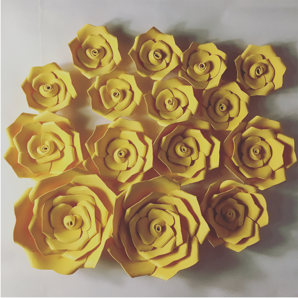15pcs Giant Foam Flower,Large Big Paper Flower For Wedding Party ...