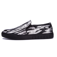 016 Casual Fashion Men's Shoes Striped Flat-With Men Shoes Comfortable Slip-On Trend Footwear YS1608059