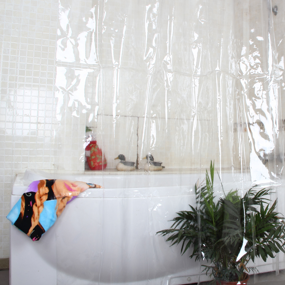Plastic Eco-freindly Pvc Full Transparence Waterproof Thicken Shower Curtains Bathroom Curtains Thicken Curtain 18s (0.18mm)