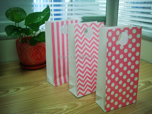 Birthday Party BagsHappy Candy Bags1st Bags Baby First Favor Bag Treat BagPink Shower