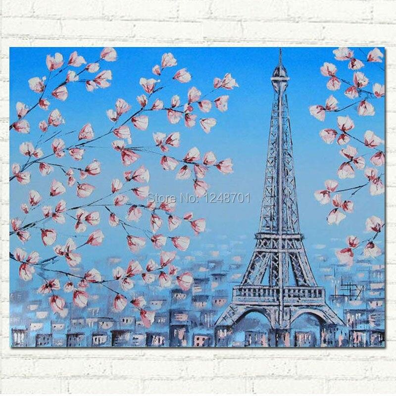 Online Shop Handgeschilderde Parijs Eiffeltoren Art Parijse ...