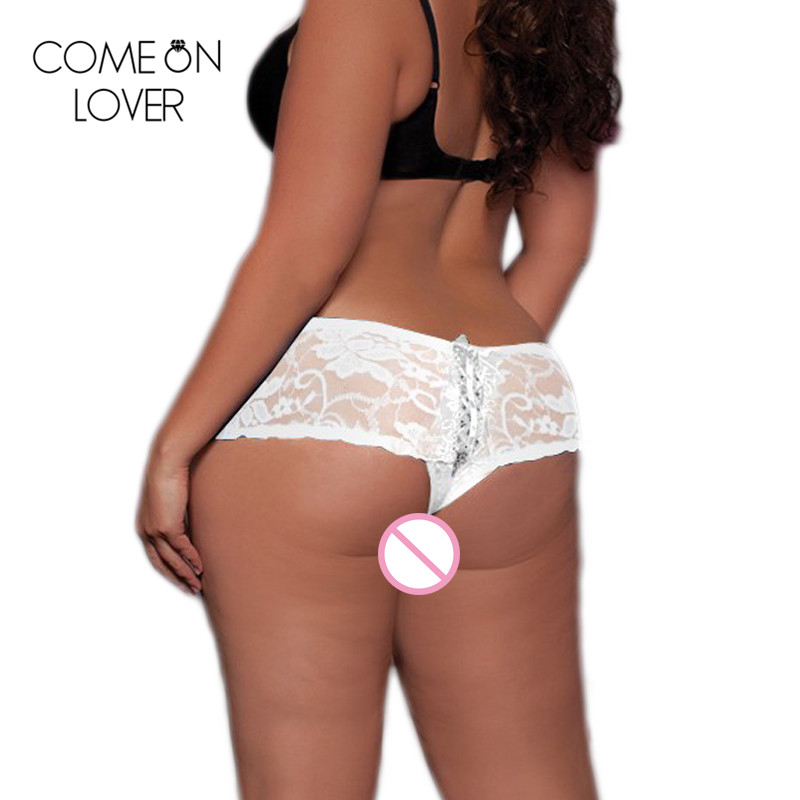 Comeonlover Bandage large size 6XL sexy underwear panties hollow out lace female underpants hot ladies briefs panties PL5011