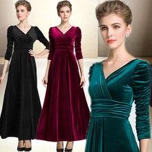 Emerald Long Velvet Party Formal Evening Maxi Dress Gown Plus sizes