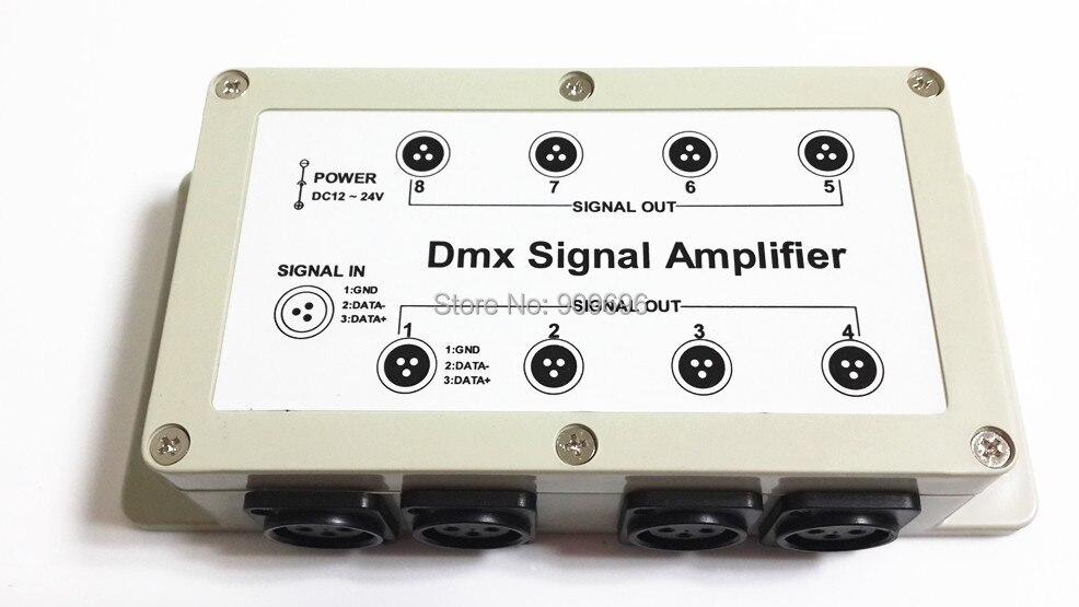 8 Channel Output DMX DMX512 LED Controller Signal Amplifier Splitter Distributor free shipping 1397 dmx512 digital display 24ch dmx address controller dc5v 24v each ch max 3a 8 groups rgb controller