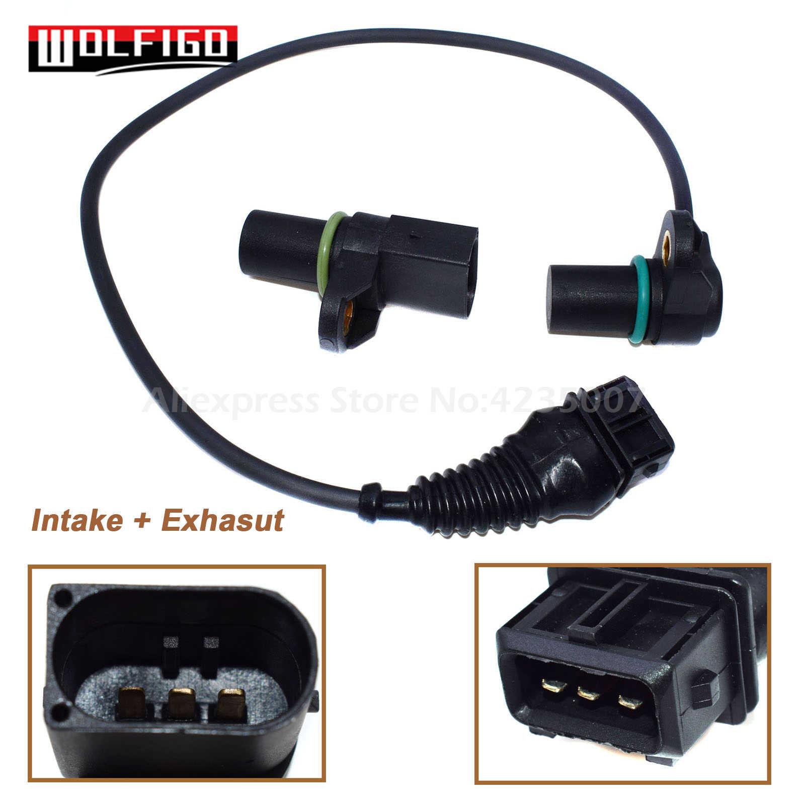 2PCS Engine Camshaft Position Sensor Intake /& Exhasut For:BMW 323CI 320I X3 X5