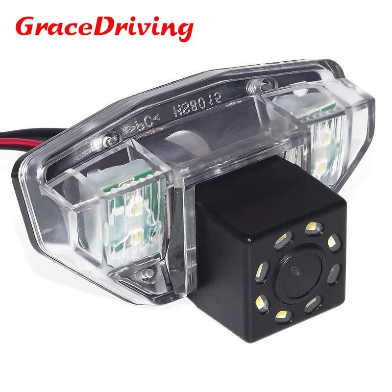 Promotion Voiture Caméra de Recul Vue Arrière Caméra Pour Honda CRV 2006 2007 2008 2009 2010 2011 Fit avec 8LED Vision Nocturne Imperméable À L'eau