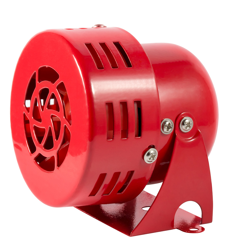 High quality Wired Automotive Air Raid Mini Motor Siren Horn Car Truck Motor Driven Alarm Red siren alarm 110DB red high quality 12v 3 automotive air raid siren horn car truck motor driven alarm red siren alarm with retail box
