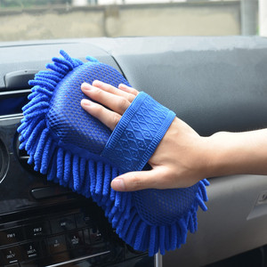 Image 3 - Microfiber Car Washer Sponge Cleaning Car Care Detailing Brushes Washing Cloth Towel Auto Gloves Styling Wash Accessories