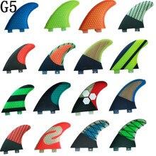 FCS G5 Fin Surf fiberglass Honeycomb carbon Fins Quilhas tri/set Medium size pranchas de surf fcs surfing fins