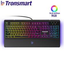 [Английский] Tronsmart TK09R механическая клавиатура Gaming Keyboard 104 ключей с RGB подсветкой, макро, синий переключатели для геймеров, dota 2