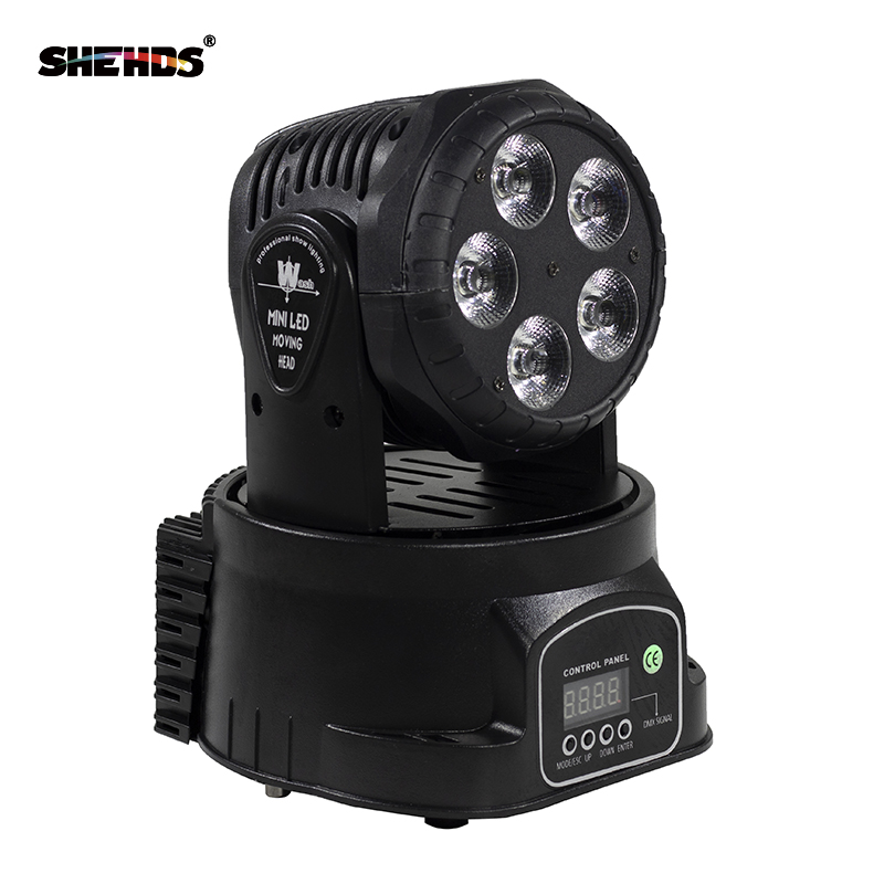 Schneller Versand LED Moving Head Mini Wash 5x18W RGBWA + UV Gut für Disco DJ Party Beam LED Bühnenbeleuchtung