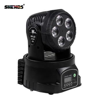 Fast Shipping LED Moving Head Mini Wash 5x18W RGBWA+UV Good for Disco DJ Party Beam LED Stage Lighting