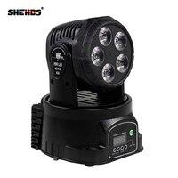 Oferta Envío rápido LED cabeza móvil Mini Wash 5x18W RGBWA + UV bueno para Disco Fiesta de DJ iluminación LED para escenario de haz