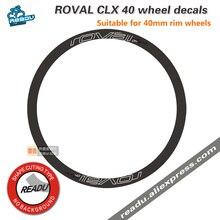ROVAL – autocollants pour roues de bicyclette, en carbone 700C, 40mm, 45mm, CLX 40