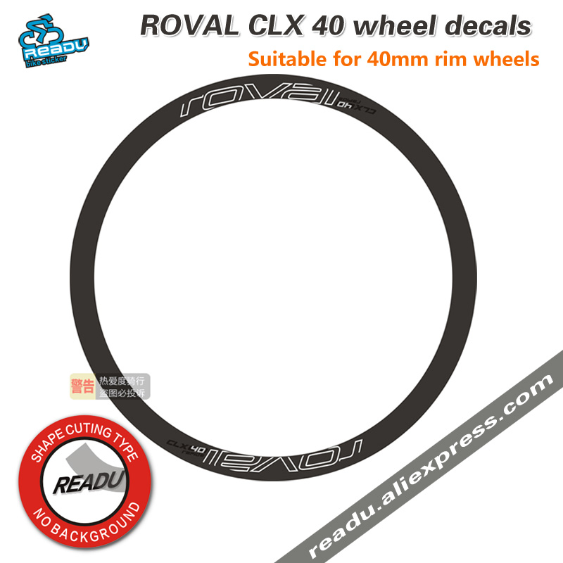 CLX 40 Bicycle Wheelset Stickers ROVAL CLX wheel rims stickers for 40mm 45mm Carbon 700C Wheelsets for Two Wheels decals