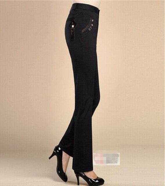 High Elastic High Waist Straight Formal Trousers