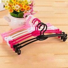 26*11cm/ 27.5*12cm/26*9cm 10 pcs/lot ABS Plastic Bra Hangers Twist-resistant Soft Lining Underwear Hanger Non-slip Magic Lingeri