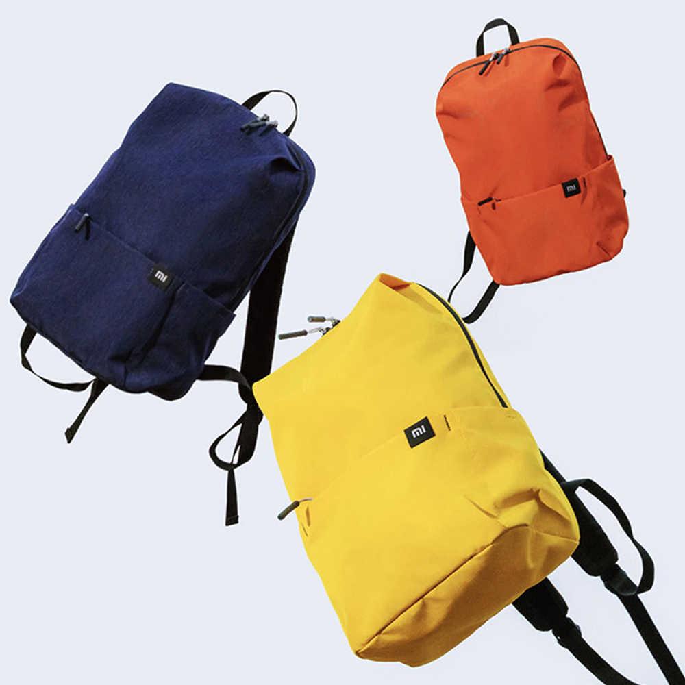 100% Xiao mi mi กระเป๋าเป้สะพายหลัง 10L กระเป๋า 10 สี 165g Urban Leisure กีฬากระเป๋าผู้ชายผู้หญิงขนาดเล็กขนาดไหล่กระเป๋า