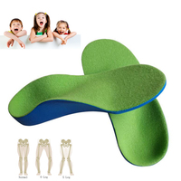 Children Orthotic Insoles Flat Foot Arch Support Orthotic Pads Correction Health Feet Care Insole O X