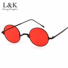 277bade83d972 Hiphop Retro Redonda de Metal Do Vintage Óculos De Sol Mulheres Círculo  Oceano Lens Óculos de Sol Super UV400 hippie estilo Para.