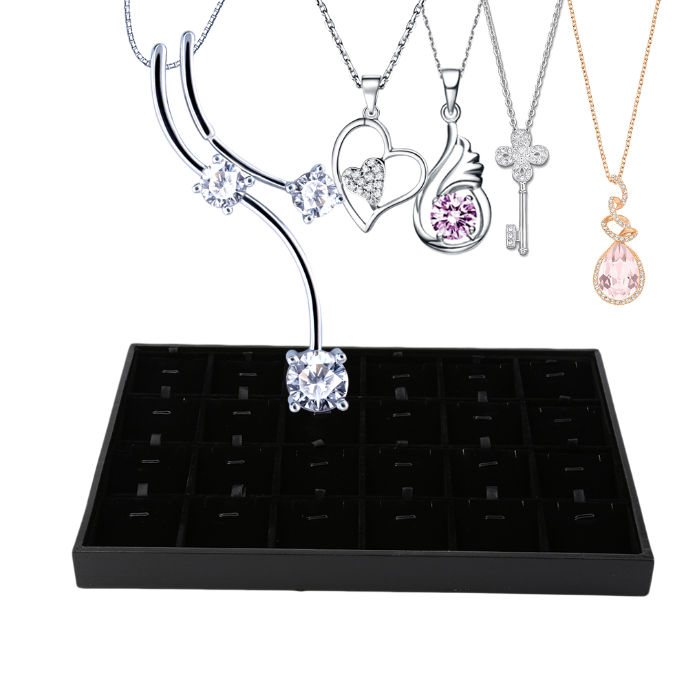Aliexpresscom Buy GENBOLI 24 Grids Necklaces Pendants Organizer