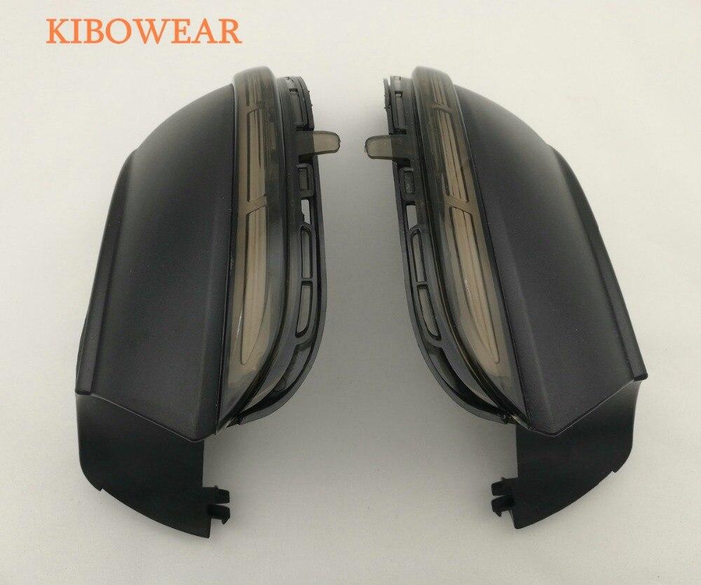 Kibowear pour VW Scirocco MK3 Passat B7 CC Dynamique Miroir Indicateur côté LED Clignotants Lumière Clignotant EOS Séquentielle de Défilement