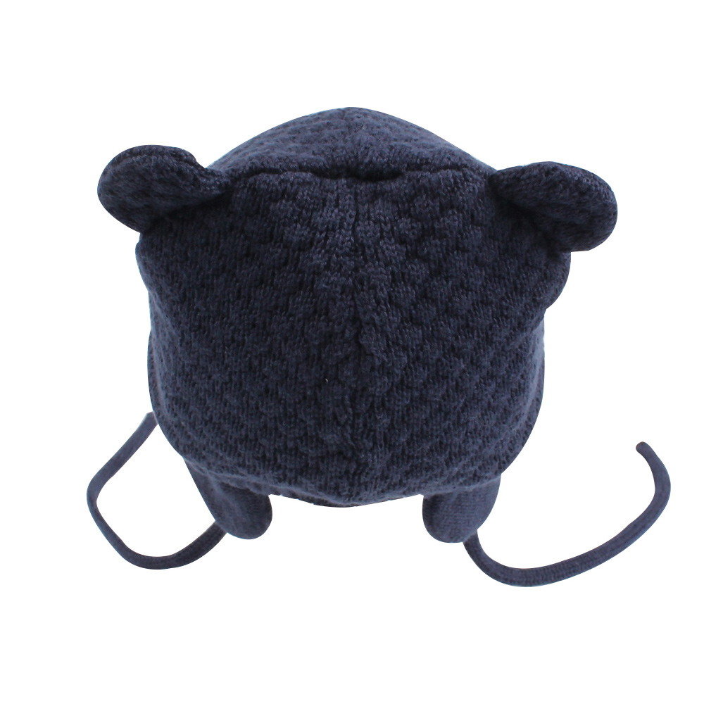 Bear Ears Cute Baby Hat Soft Cotton Newborn Baby Beanie Double Layer Warm Winter Hat For Baby Girls Boys Knitted Kids Hats New (2)