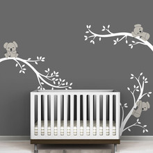 Large size Koala Tree Branches DIY Wall Decals Wall Sticker Nursery Vinyls Baby Wall Stickers Wall Art For Kids Rooms Mural D504