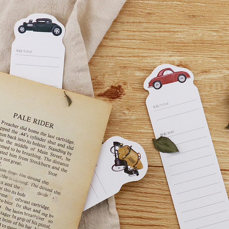 Share Tab For Books Book Markers Stationery Curing Cough And Facilitating Expectoration And Relieving Hoarseness Efficient 30 Pcs/pack Novelty Vintage Car Stamp Album Paper Bookmarks For Books
