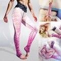 YIWU YOUNGA Pink Women's Lace print Yoga pants for women Outfits BOHO Dance leggings Pastel Chic  Stretch Pants