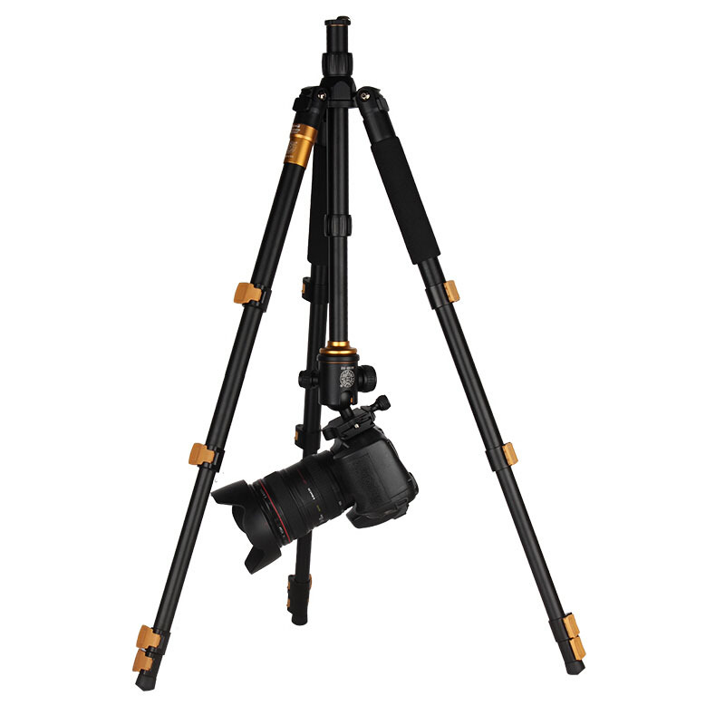 Newest Q570A Professional Tripod Monopod for SLR Camera Ball Head Travel Portable Folding with Tripod Bag Buckle Reflexed Tripod sirui a 1205 a1205 tripod professional carbon fiber flexible monopod for camera with y11 ball head 5 section free shipping