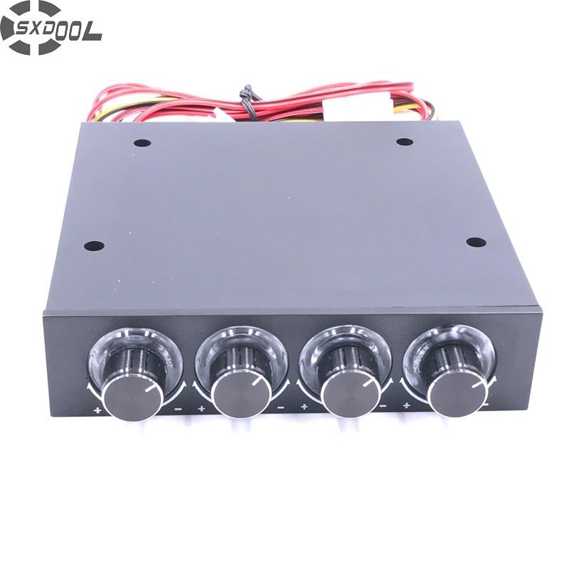 SXDOOL STW-6002 4 Canali Fan Speed Controller con Blu HA CONDOTTO Il Regolatore e CPU HDD VGA