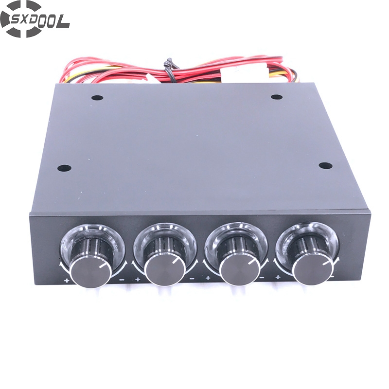 SXDOOL STW-6002 4 Kanal 3-gang-lüftersteuerung mit Blaue LED Controller und CPU HDD VGA