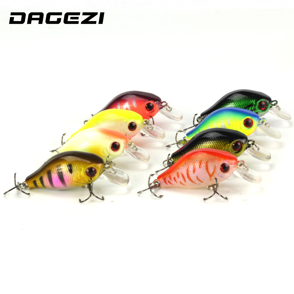 DAGEZI Artificial 3D Eyes Hard Fishing Lure Clubby Fatty Crank Bait Lures Bright Color Pesca Fishing Tackle 8PCS/lot 1pcs 12cm 14g big wobbler fishing lures sea trolling minnow artificial bait carp peche crankbait pesca jerkbait ye 37