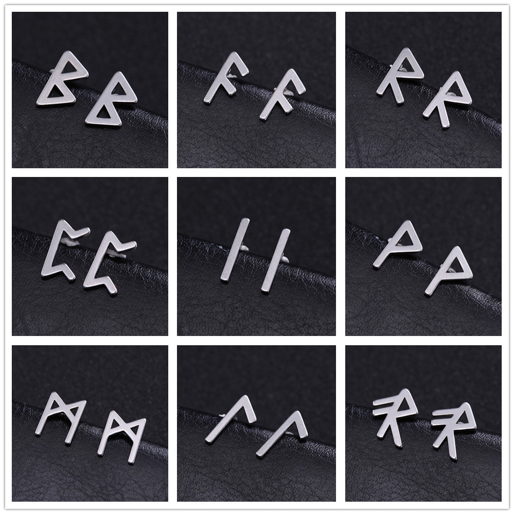 Runes Earring Studs