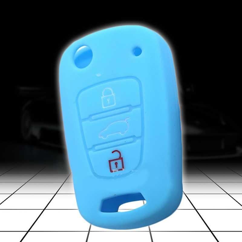 سيليكون مفتاح غطاء لكيا ريو K2 K5 سبورتاج سورينتو صالح i20 i30 i35 iX20 iX35 سولاريس فيرنا غطاء مفتاح قابل للطيّ