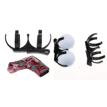 цена на 1 Set  Sports Golf Club Head Cover Drivers Protector and Golf Ball Holder Golf Training Aids Durable Waterproof
