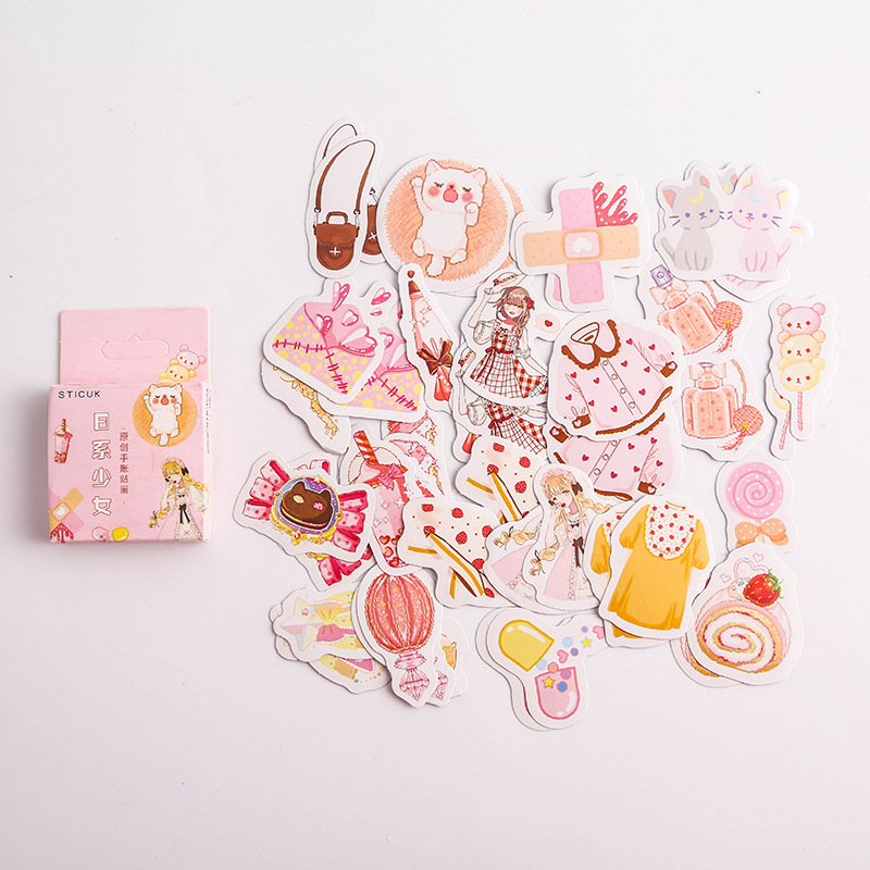Lollipop Girl Bullet Journal Decorative Stationery Stickers Scrapbooking DIY Diary Album Stick Label