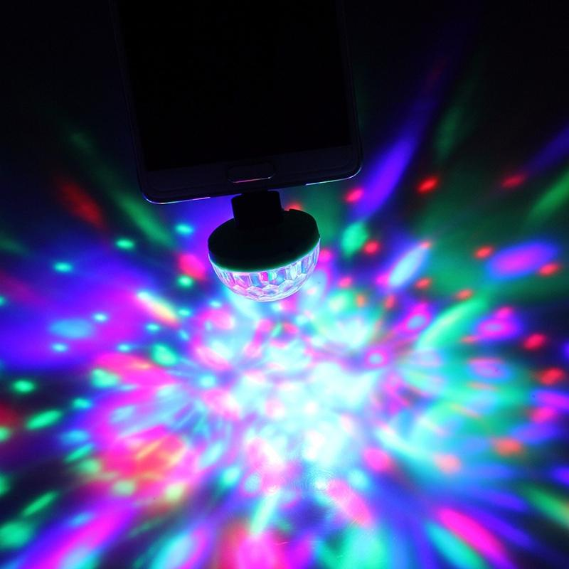 SOLLED USB Led Strobe light Crystal Portable Stage Light For Christmas Party Colorful Stage Lighting