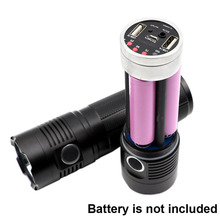 Cree XHP70 XHP50 XML2 XPL Rechargeable LED Flashlight Torch Mobile power bank USB Charge 18650 battery charger for cell phones
