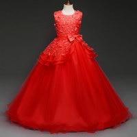 Children S Summer Princess Dress Girl Sleeveless Wedding Lace Robe Dresses Girl S Flower Dress Evening