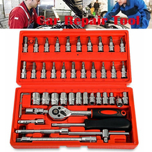 купить Professional 46Pcs Spanner Socket Set 1/4 inch Screwdriver Ratchet Wrench Kit Combination Car Repair Hand Tools в интернет-магазине