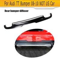 rear bumper lip diffuser For Audi TT 8J Standard Bumper 08 10 Notfit US Car Black PU TTS Style