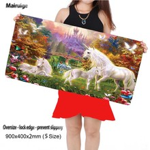 Free Shipping  Magical Unicorns 900x400mm Gaming Animal Mouse Pad Cool Gamer Mat Game Computer High Quality Mats