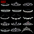 Ainamaisi жемчужная тиара принцессы, Хрустальная корона, подарок на выпускной вечер для девочек, украшения для волос, свадебная тиара и короны