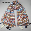 Famouse brand flower printing shawl Pascual large scarf elegant women cape long scarf with tessal